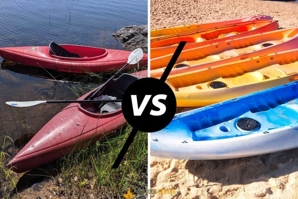 sit-on-top vs sit-in kayak