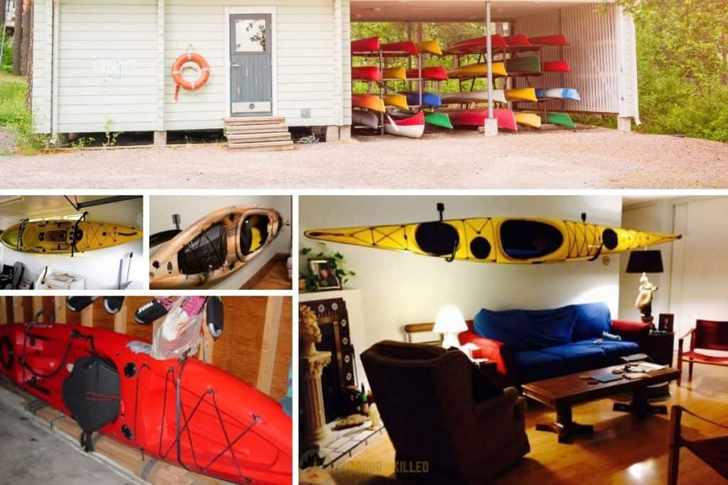 ideas to how to store a kayak in an apartment
